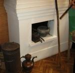 Белокаменная печь в избе