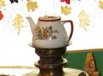 Расписной заварочный чайник
